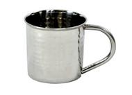 hammered stainless steel mug 14 oz