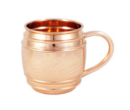 Copper barrel mugs with lines