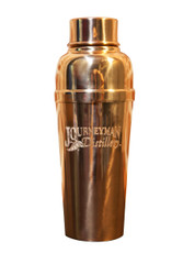 Engraved copper cocktail shaker