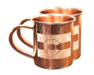 Colorado Flag Copper Mugs - Set of 2 14 oz Mugs