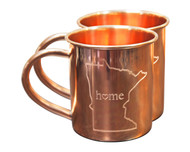 Minnesota Home Copper Mugs - Set of 2 14 oz Mugs