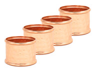 Handcrafted Hammered Copper Napkin Rings (Set of 4)