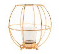 Copper Wire Votive Candle Holder Lantern
