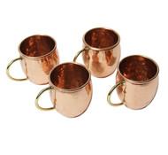 Hammered Copper Barrel Shot Glass - 2 oz (Set of 4)