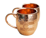 Colorado Hammered Copper Barrel Mugs (set of 2)