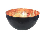 Copper and Black hammered bowl