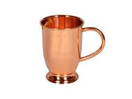 16 oz Barrel Shaped Copper Moscow Mule Mug with Base