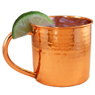 100% Pure Copper Mug with Hammered Finish
