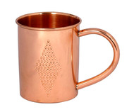 Pure Moscow Mule Copper Mug with Diamond Etching