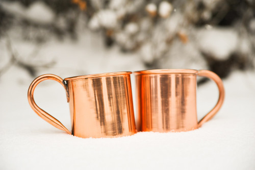 Stainless Steel Lined Copper Mugs - set of 2