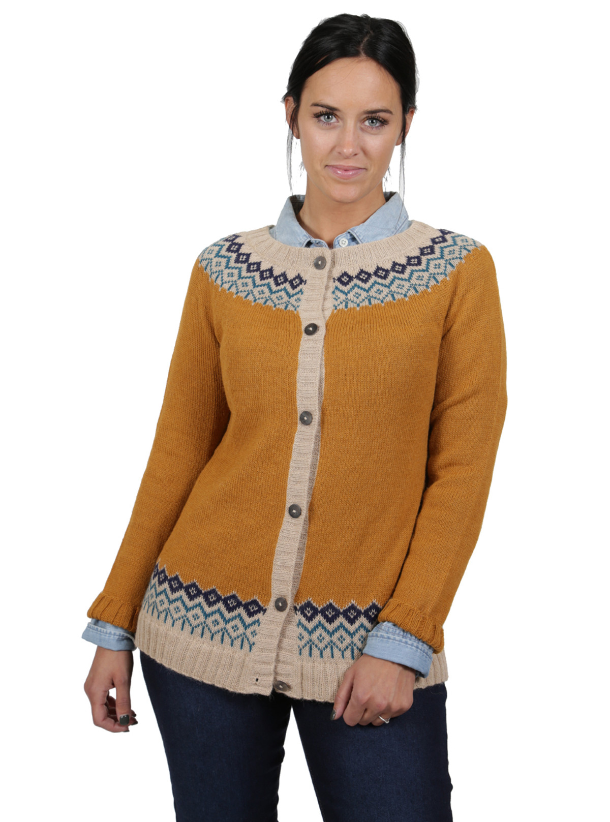 Modern Mayfair Fair Isle Alpaca Cardigan | Sun Valley Alpaca Co.
