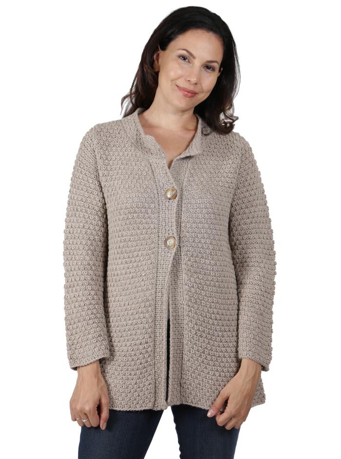 Alpaca Swing Cardigan ~ Hand knit!