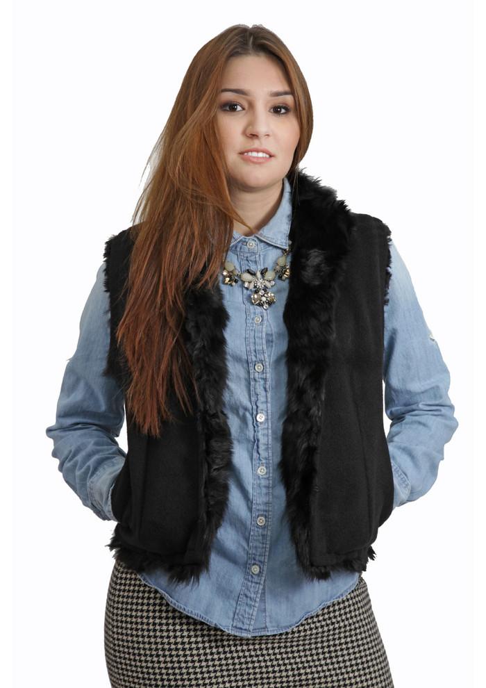 Alpaca Fur Vest - Reversible