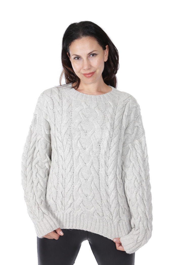 Alexa Cable Pullover Sweater