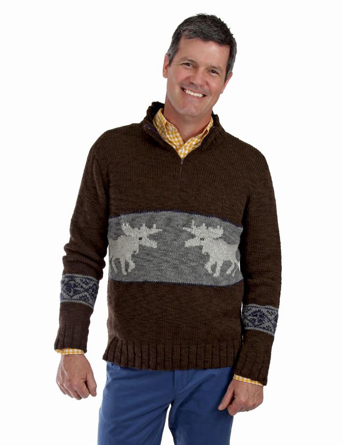 Men's Montana Bulky Alpaca Zip Neck Pullover