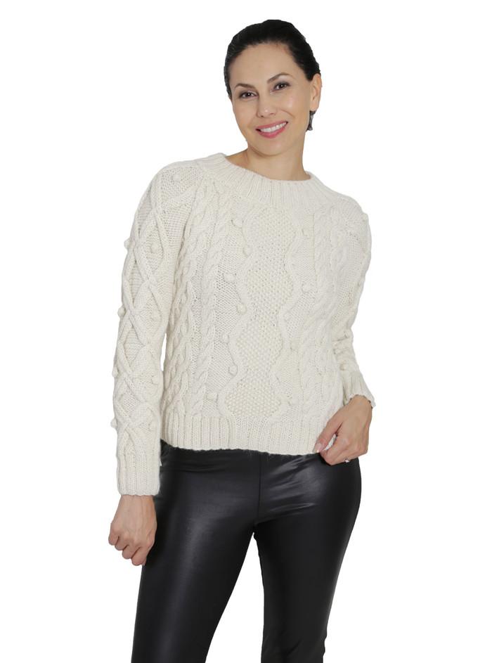 Olivia Aran Cropped Sweater