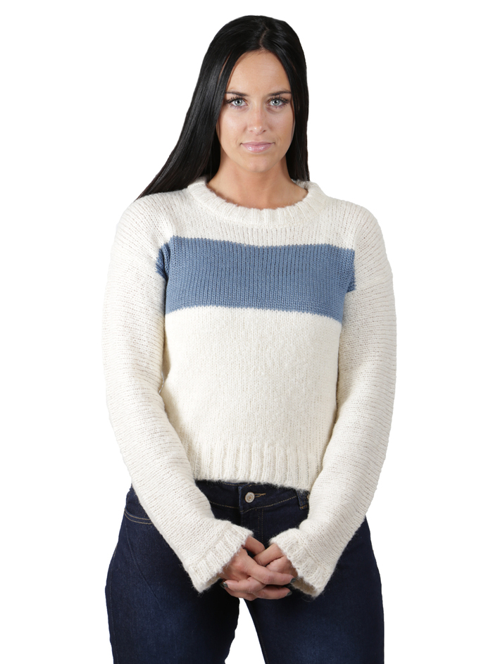Emmy Striped Boucle Pullover