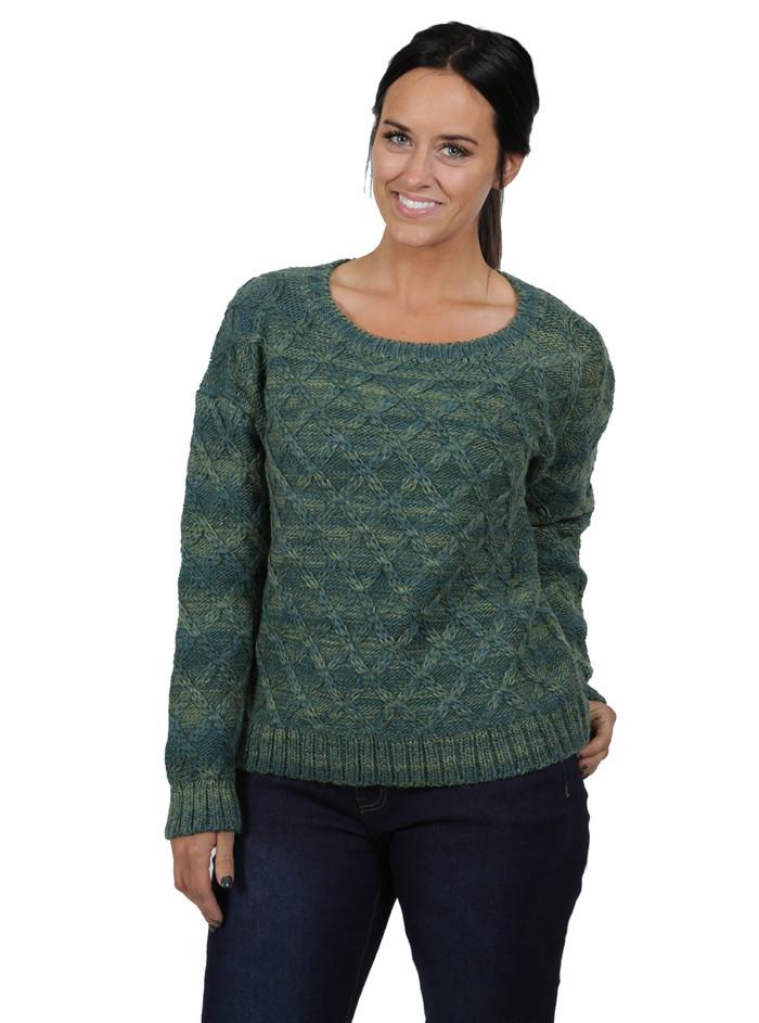 Lattice Knit Alpaca & Wool Pullover