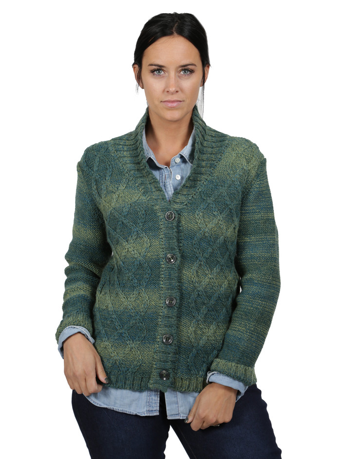 Lattice Knit Alpaca & Wool Cardigan