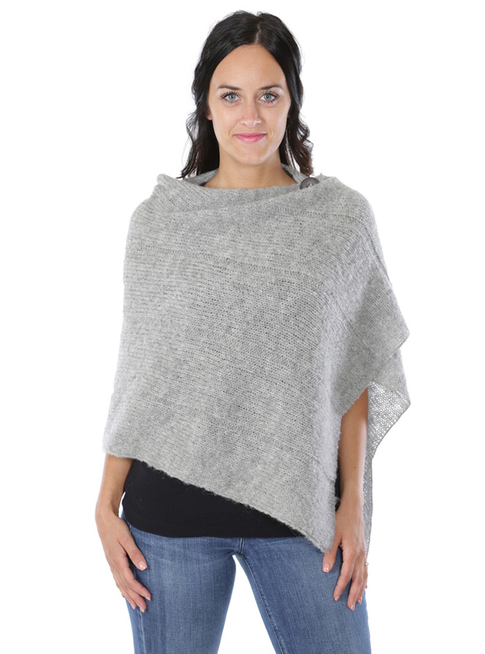 One Button Poncho Front