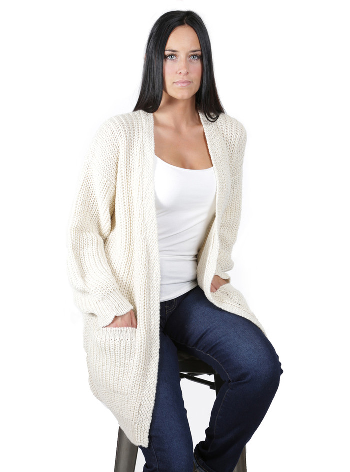 Forever Cardigan with Pockets Front
