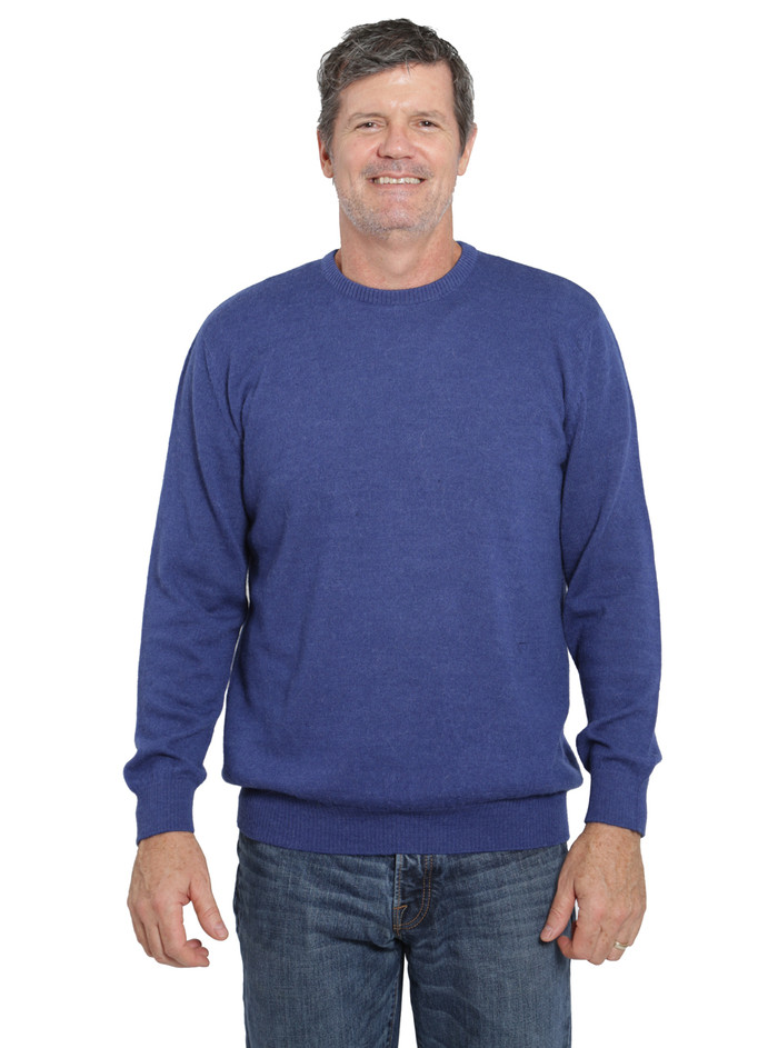 Hailey Alpaca Crew neck Pullover Men's Sweater Front