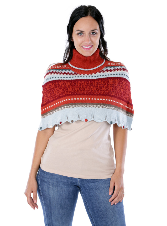 Wright Fair Isle Poncho