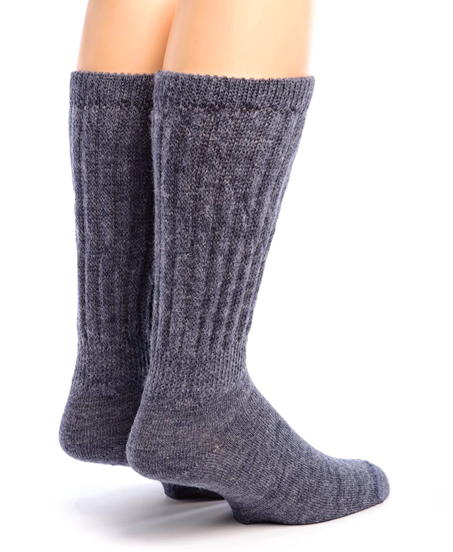 Therapeutic Alpaca Socks Back Denim