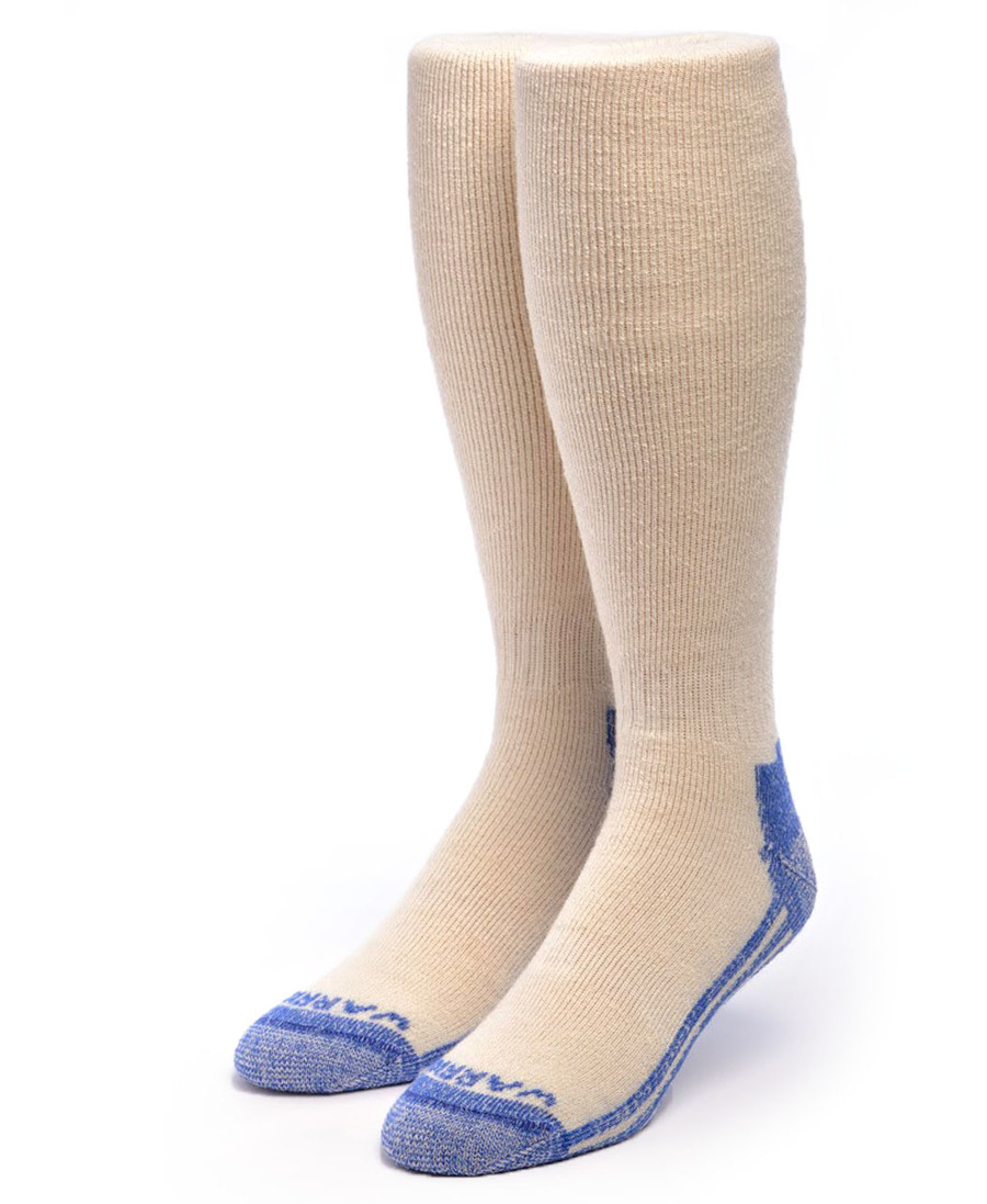 High Performance Knee High Athletic Alpaca Socks Front White