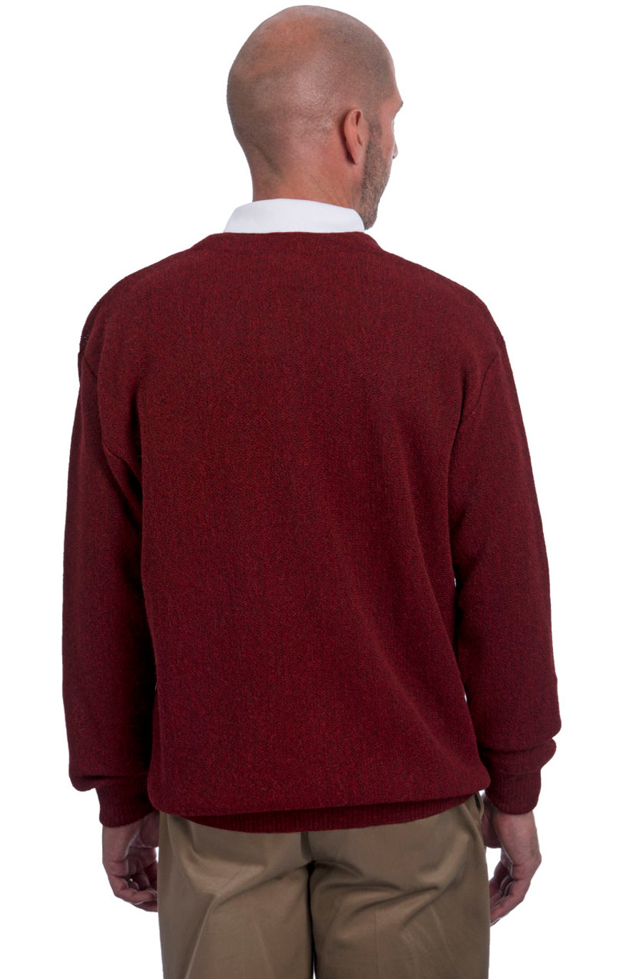 Men's Alpaca Button Down Cardigan with pockets - many great colors