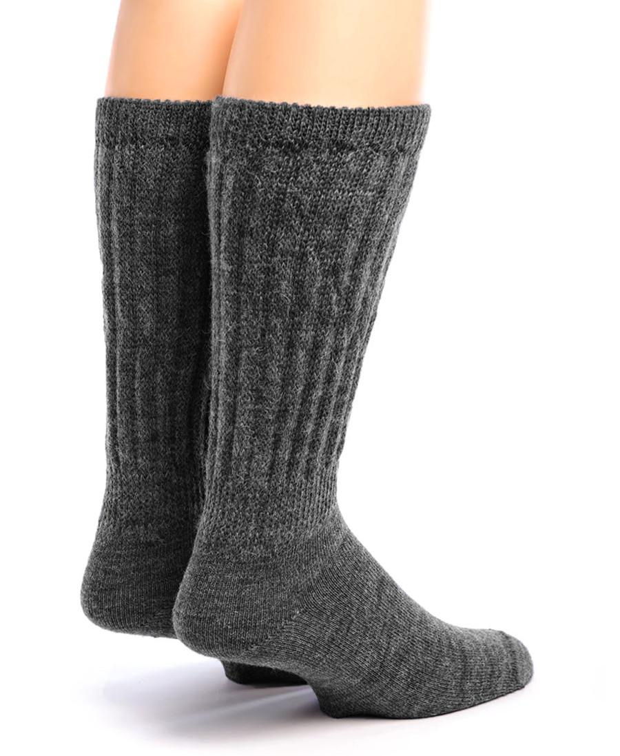 Wide Calf Alpaca Socks Back