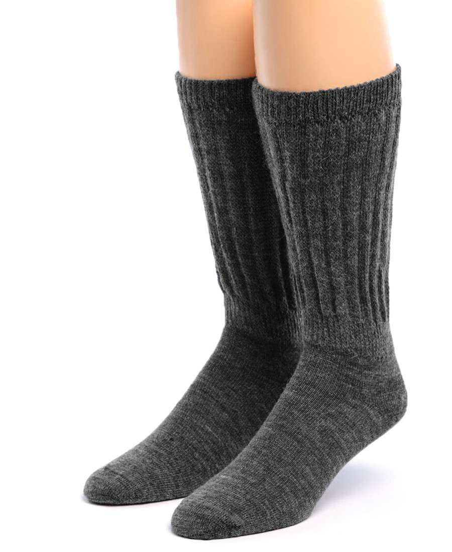 Wide Calf Alpaca Socks Front