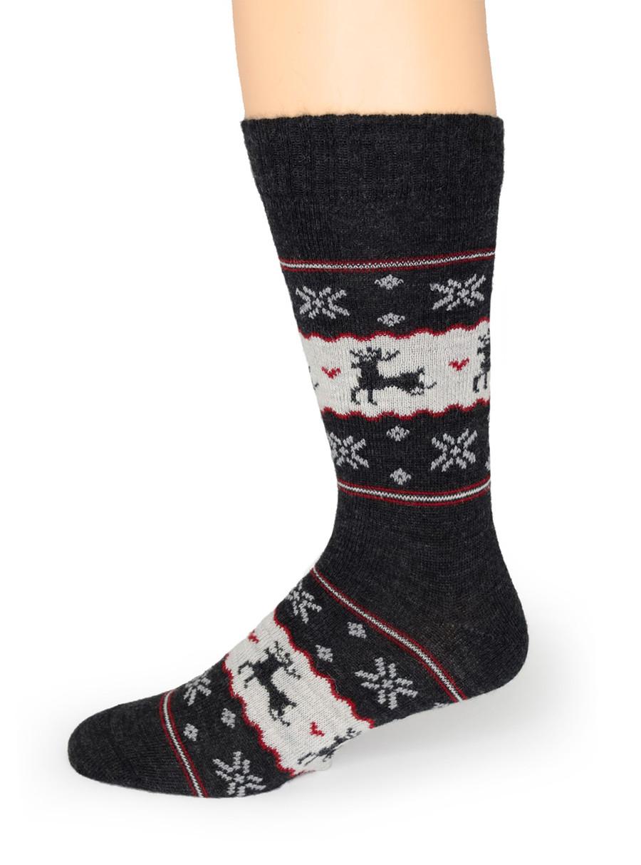 Fair Isle Reindeer Socks