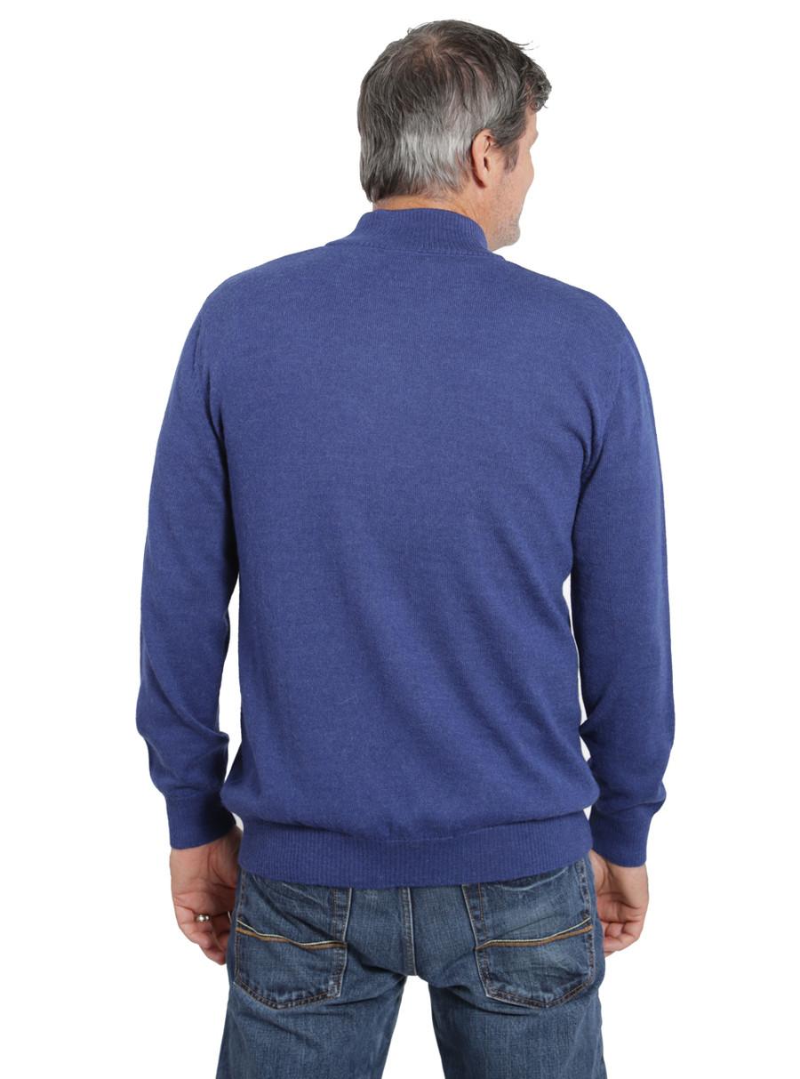 Hailey Alpaca 3-Button Pullover Men's Sweater  Back