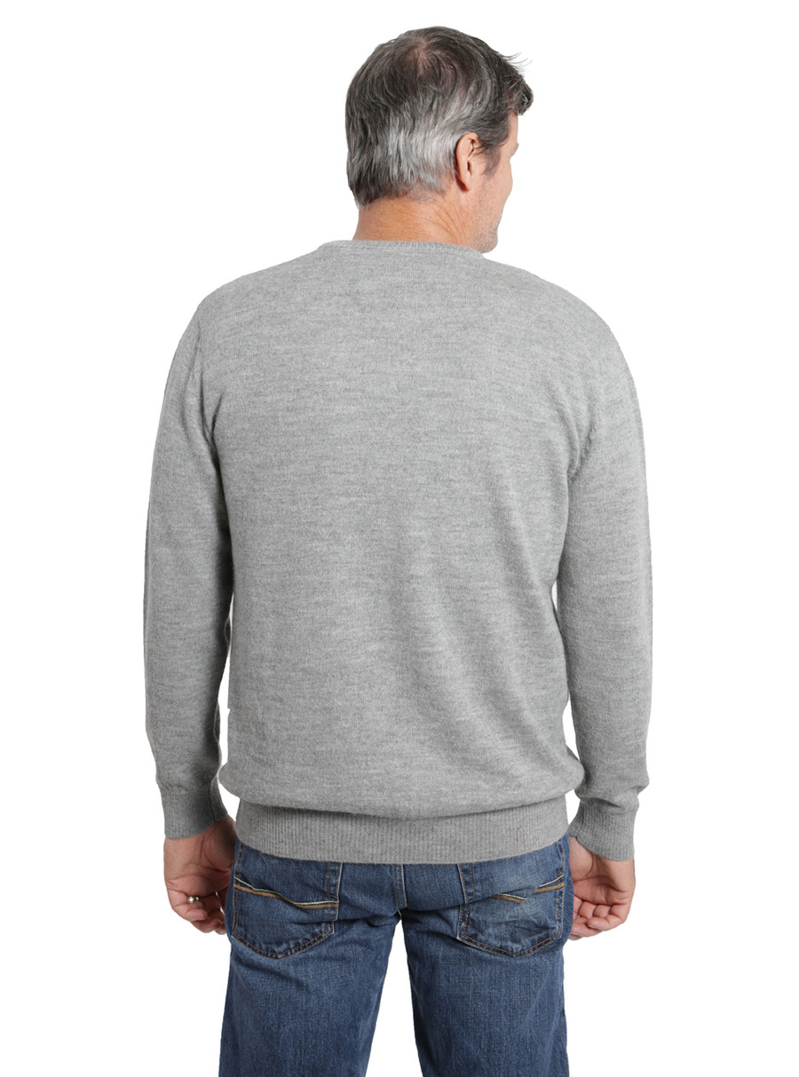 Hailey Alpaca V-Neck Pullover Men's Sweater Back