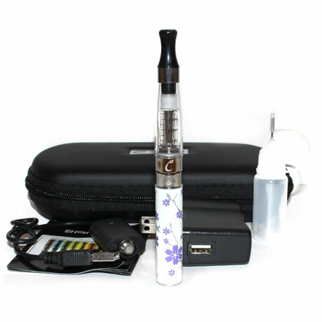 eGo-Q 650mAh Starter Kit - Purple White Floral