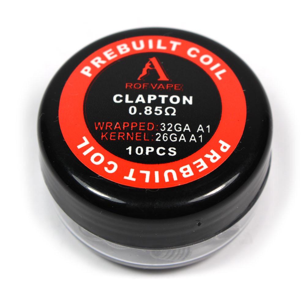 Rofvape Clapton Prebuilt Wire - 0.85ohm (26GA+30GA) (10pcs) - Vape ...