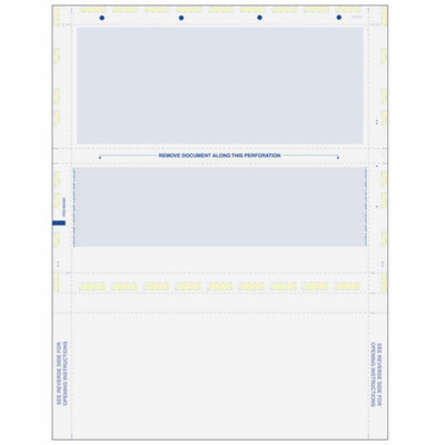 Z-Fold Eccentric, Blue Check with Blue Remit, 8 1/2 x 11