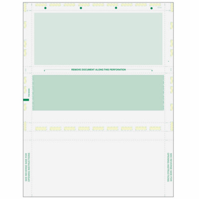 Z-Fold, Green Check with Green Remit, 8 1/2 x 11