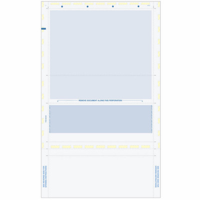 Z-Fold Eccentric, Blue Check w/ Blue Remit, 8 1/2 x 14