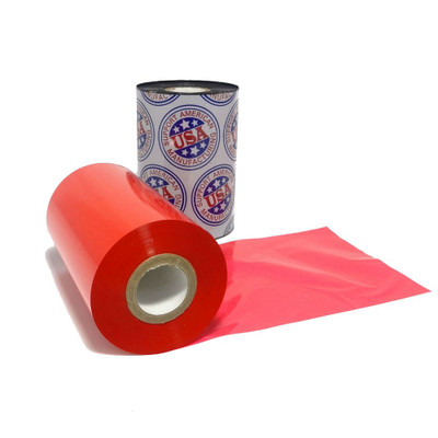 "Resin Ribbon: 2.36"" x 1,181' (60.0mm x 360m), Ink on Inside, Red, $35.95 per roll"