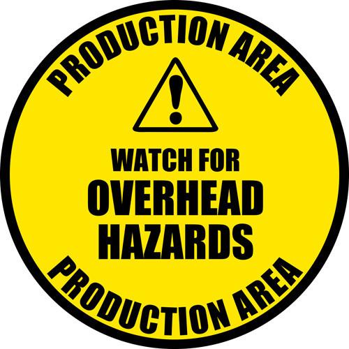 OverHead Hazards Safety Floor Sign
