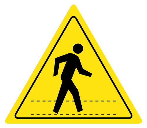 Pedestrian Walkway Sign, 5S Signs, Floor Signs, Wall Signs ...