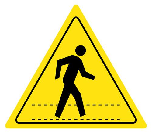 Safety Walk Boards : Pedestrian walkway sign s signs floor wall