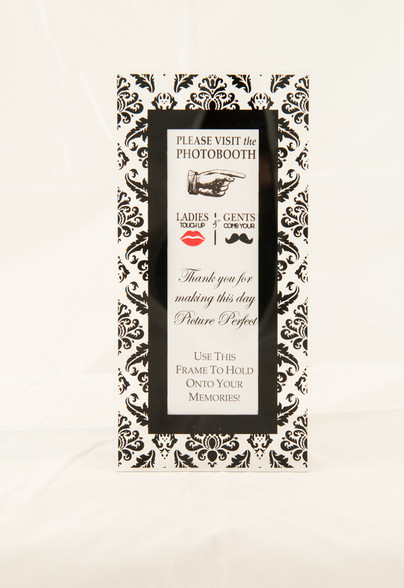 magnetic photo booth frame with easel option whimsical black
