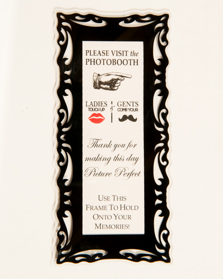 Black Magnetic Photo Booth Frame - Photo Booth Frames