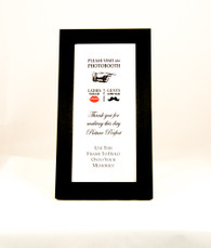 Black photo booth frame with mat
