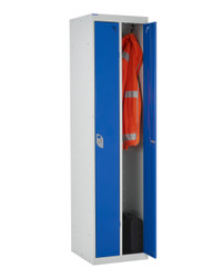 twin lockers shown in use