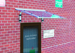 shield acrylic door canopies