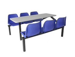Canteen furniture 6 seater single entry